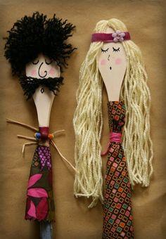 a casa di eli per lora del tè: Cucchiai o burattini? Kids Crafts, Craft Stick Crafts, Projects For Kids, Diy For Kids, Diy And Crafts, Craft Projects, Arts And Crafts, Wooden Spoon Crafts, Wooden Spoons