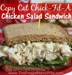 Chick-Fil-A makes awesome chicken salad sandwiches. Those sandwiches are chunky and really flavorful, guaranteed to fill you up yet wanting for more. But no matter how much you love those sandwiche… Sandwiches For Lunch, Soup And Sandwich, Wrap Sandwiches, Sandwich Recipes, Turkey Salad Sandwich, Sandwich Board, Delicious Sandwiches, Chicken Sandwich, Homemade Chicken Salads