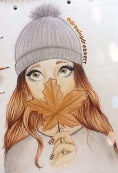 Fall drawings, pencil drawings of girls, pretty drawings, beautiful drawings, amazing drawings Fall Drawings, Tumblr Drawings, Bff Drawings, Amazing Drawings, Pencil Art Drawings, Cool Art Drawings, Beautiful Drawings, Art Drawings Sketches, Amazing Art