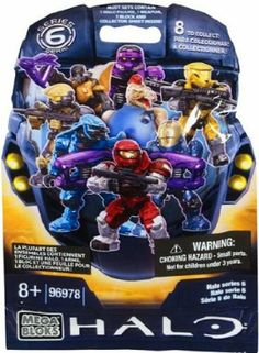 Mega Bloks Halo Series 6 Mystery Pack Micro Action Mini Figure by Mega Brands. $5.49. Collect all 8!. 1 Mystery Pack contains 1 Random Figure. Establish your army, build and expand your units with the Halo Hero Pack Series 6 from Mega Bloks!  Each Hero Pack contains a fully armed micro-action figure ready to jump into the fight!  With 8 Halo Hero sets to collect, part of the adventure is finding out which hero has joined your Human-Covenant War!  From common t...