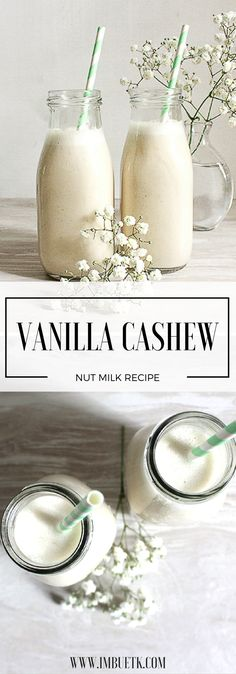 Vanilla Cashew Nut Milk - DELICIOUS!!! ..Dessert in a bottle. #nutmilk