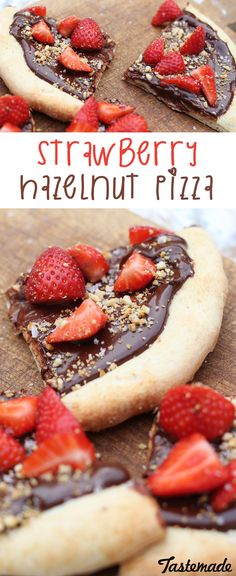 Keep your friends close and your pizza closer, especially if it's topped with homemade hazelnut spread and strawberries.