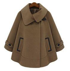 Cape coats jackets women's winter coat high fashion