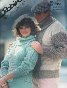 Sweater Knitting Pattern Men Women Robin 14134 by elanknits (Craft Supplies & Tools, Patterns & Tutorials, Fiber Arts, Knitting, knitting pattern, jumper pattern, sweater pattern, turtleneck pattern, double knitting yarn, dk weight yarn, Robin 14134, men, women, elanknits, cowl neck pattern, turtleneck sweater, cowl neck sweater)