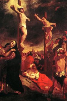 Eugene Delacroix - Christ at the Cross (AllPosters.com) - YES!