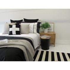 Urban Charcoal and Silver Suede Designer Queez Size Bed Linen Set | Urban Couture - Designer Homewares & Furniture Online