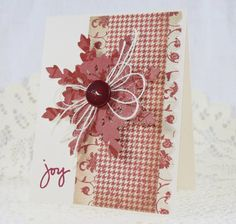 Handmade Greeting Card  Christmas  Joy