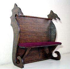 Dragon Bench Medieval Dollhouse Miniature 1/12 by CalicoJewels, $46.00