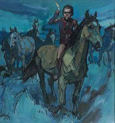 negrinho do pastoreio legend illustration