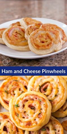 Easy Ham and Cheese Pinwheels with Puff Pastry Just FOUR ingredients Everyone loves these simple and delicious puff pastry appetizers Easy to make ahead delish and perfect for holiday parties too wellplated puffpastry easy via wellplated Puff Pastry Pinwheels, Ham And Cheese Pinwheels, Puff Pastry Appetizers, Puff Pastry Recipes, Sausage Pinwheels, Pizza Pinwheels, Pinwheel Recipes, Tortilla Pinwheel Appetizers, Clean Eating Snacks