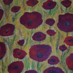 Poppy field - Babetts Bildergalerie - The picture was painted in acrylic on canvas. Brushed Metal, Floating Frame, Hanging Wire, Stretched Canvas Prints, Canvas Artwork, Wood Print, Poppy, Poster, Painting