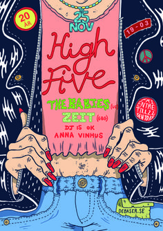 High Five : Kyle Platts - Freelance Illustrator Graphic Design Posters, Graphic Design Illustration, Graphic Design Inspiration, Illustration Art, E Design, Cover Design, Skateboard Design, Fashion Wall Art, Band Posters