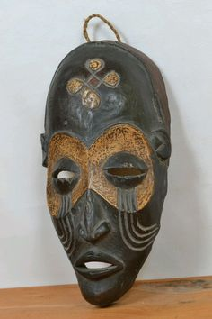 Amazing African salampasu Mask DR Congo approx size 29cm --- 11.5inches high by 14cm--5.5 inches wide. | eBay!