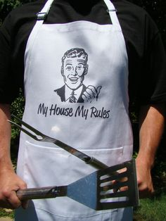 Father's Day Gift  My House My Rules  BBQ by SweetBohemianLife, $29.00