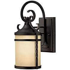 """Hinkley Casa Collection, Olde Black finish, 17 1/4"""" High Outdoor Wall Light. 199. Also comes in 13"""" high and 20.75"""" high."""
