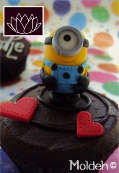 Cupcake de minion para aniversario // Anniversary minion Cupcake