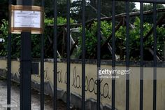 AMATRICE, ITALY - AUGUST 31: The gates of the public school... #capranica: AMATRICE, ITALY - AUGUST 31: The gates of the public… #capranica