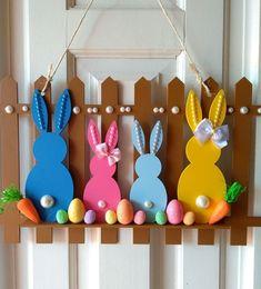 spring easter craft door hanger