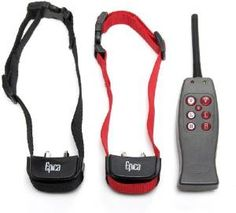 Epica Dog Training Remote Vibration and Collar Shock for two Dogs