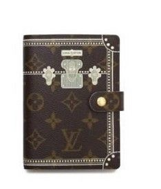2a12bed086c Louis Vuitton Monogram Canva PM Trunk Agenda Cover Brown R20965 Sku lv-610