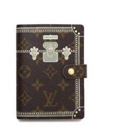 caa2a0eec83f Louis Vuitton Monogram Canva PM Trunk Agenda Cover Brown R20965 Sku lv-610