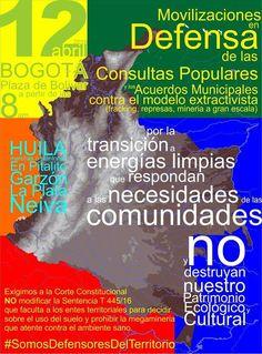 YO AMO COLOMBIA, NUESTRA GENTE, NUESTROS INDIGENAS: #Alerta 12abril Bogota Plaza de Bolivar por la def...