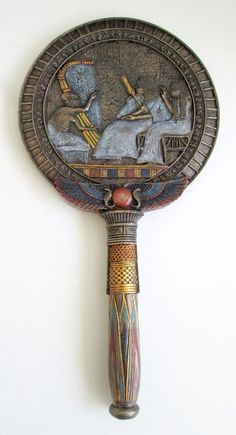 Ancient Egypt, back side of the bronze mirror Egyptian Scarab, Ancient Egyptian Art, Ancient History, Art History, Egyptian Things, Empire Romain, Egyptian Jewelry, Ancient Artifacts, Ancient Civilizations