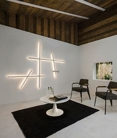 Contemporary wall light / linear / polycarbonate / LED SPARKS by Arik Levy VIBIA