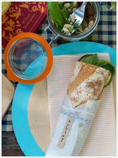 DIY Rimmed Bamboo Plates - great idea for all the Bambu plates we still have leftover from our wedding!