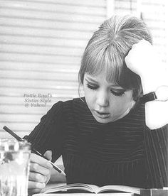 I.Q. Test  January 21, 1964 - Nineteen-year-old model Pattie Boyd taking and I.Q. test before appearing on a British TV show. MirrorPix.  Scan from the Pattie Boyd's Sixties Style group at Yahoo!