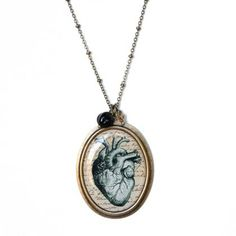 anatomical heart necklace.  real love.