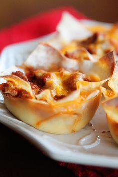 Mini Lasagne Cups