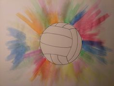 Volleyball art