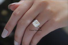 Asscher diamond engagement ring carat k color Asscher Cut Diamond Engagement Ring, Diamond Cuts, Color, Jewelry, Jewlery, Jewerly, Colour, Schmuck, Jewels