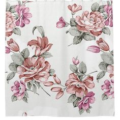 #stylish - #Vintage Chic  Shabby Girly Flowers Shower Curtain