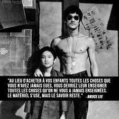 Quote Citation, French Quotes, Positive Mind, Business Motivation, Bruce Lee, Wise Quotes, Happy Thoughts, Cool Words, Einstein