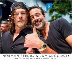 Norman Reedus and Jeffrey Dean Morgan from The Walking Dead at SDCC 2016. Image by Elena Marie Photography. Do not edit or alter image. Image copyrighted. Elena Riemersma. Facebook Elena Marie Photography, IG @elenamariephotography, Pinterest @imelena