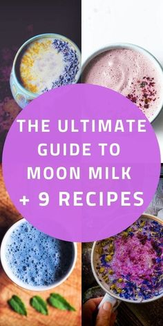 What is Moon Milk? What are the health benefits of consuming Moon Milk? What ingredients are used to make Moon Milk? How to make your own custom Moon Milk + 9 Vegan Moon Milk recipes are to be found in this Ultimate Guide to Moon Milk, with its roots in Ayurveda! #moonmilk #moonmilkrecipes #moonmilkguide | Moon Milk Recipes | MOON milk guide Yummy Drinks, Healthy Drinks, Healthy Recipes, Healthy Eating Tips, Healthy Nutrition, Cucumber Juice Benefits, Moon Milk Recipe, Easy Cooking, Cooking Recipes