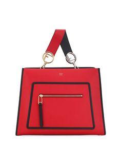 db84be19e0 Runaway Small Two-Tone Leather Tote Bag by Fendi at Neiman Marcus Borsa  Larga,
