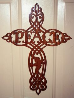 Cross Filigree wooden scroll saw work