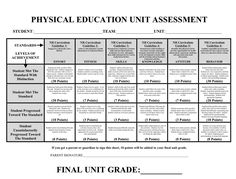 I found this great rubric on a blog called Phys Ed Review. Great blog with lots of assessment resources, as well as some really cool PE Geek resources. And the guy is a huge Star Wars fan, so he must be awesome!
