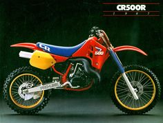Vintage Brochures: Honda CR 500 R 1987 (Usa)