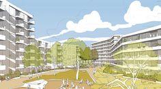ASTOC (2015): Quartiersentwicklung Ehemaliges Sportplatzareal, Karlsruhe (DE), via competitionline.com