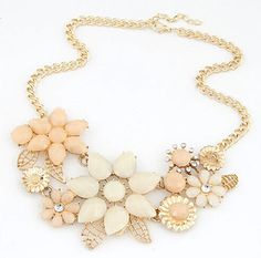 2016 New Fashionable Bright Flower Necklace Charm Rhinestone Necklace and Pendant Statement Necklaces Jewelry Wholesale XY-N219