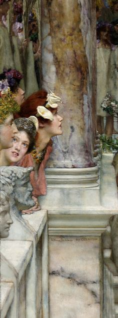 Lawrence Alma-Tadema, Spring, detail The Getty. Lawrence Alma Tadema, Classic Paintings, Beautiful Paintings, Pre Raphaelite, Renaissance Art, Art Plastique, Love Art, Painting Inspiration, Art And Architecture