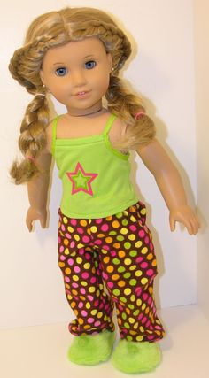 Pajamas for American Girl or 18 inch by cupcakecutiepie on Etsy, $19.00