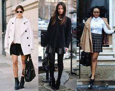 15 inspirações para usar minissaia no inverno - Moda it