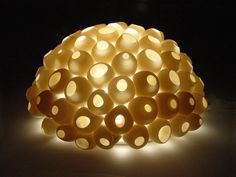 Barnacles Light by Lilach Lotan. Emits a warm glow when lit. Uses one 10 watt halogen bulb (included). Ceramic Wall Lights, Ceramic Table Lamps, Ceramic Techniques, Pottery Techniques, Lamp Design, E Design, Mermaid Cave, Clay Art Projects, Murals Street Art
