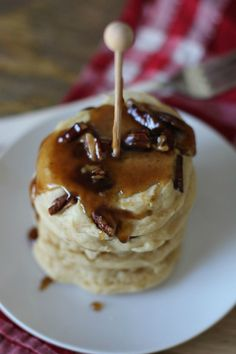 Pecan Pie Pancake Mix In a Jar — This easy-to-make recipe serves as the perfect gift to give hostesses or friends. It will also brighten your family's day when they wake up to this delicious pancake breakfast!