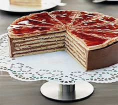 Dobos Cake, #Hungarian #Hungary #dessert #chocolate